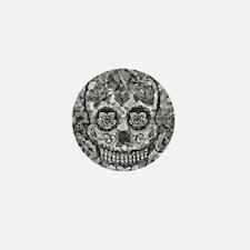 Polygon Sugarskull Mini Button