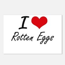 I love Rotten Eggs Postcards (Package of 8)