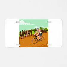 Cyclist Racing WPA Aluminum License Plate