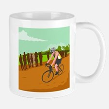Cyclist Racing WPA Mugs