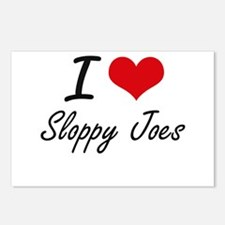 I love Sloppy Joes Postcards (Package of 8)