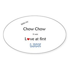 Chow Lick Oval Decal
