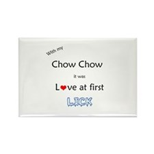 Chow Lick Rectangle Magnet