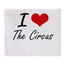 I love The Circus Throw Blanket