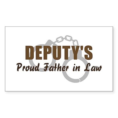 Deputy's Proud FIL Rectangle Sticker