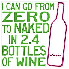 Wine Zero to Naked Poster
