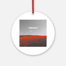 Poppy Field - Remember Round Ornament