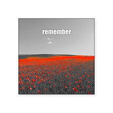 Poppy Field - Remember Sticker
