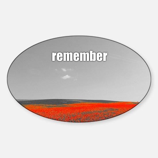Poppy Field - Remember Decal