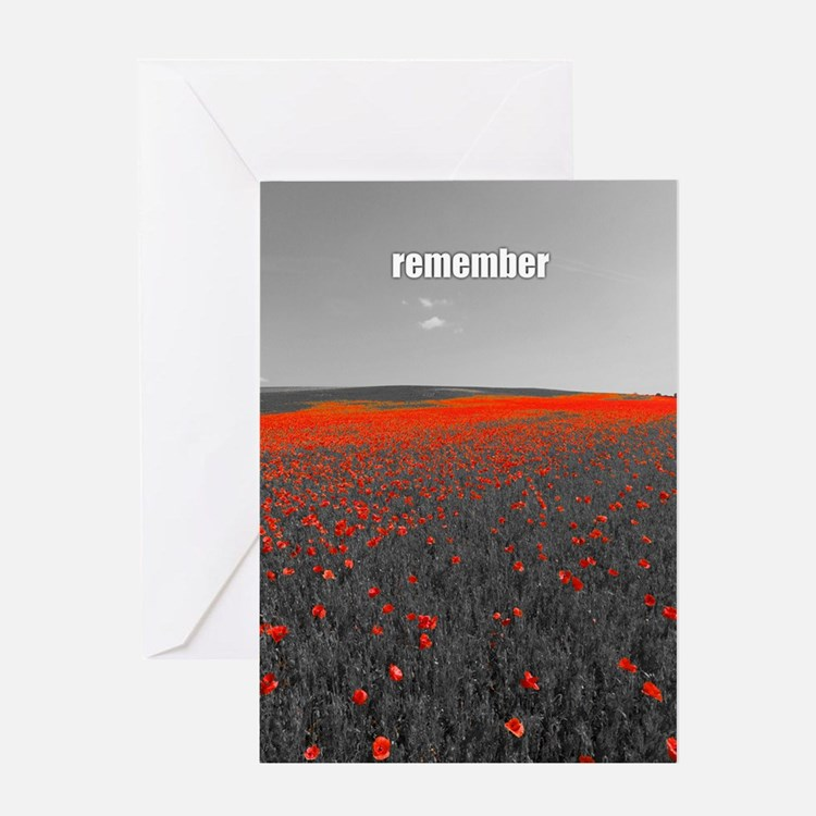 Poppy Field - Remember Greeting Cards
