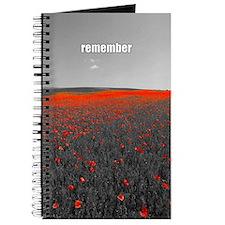 Poppy Field - Remember Journal