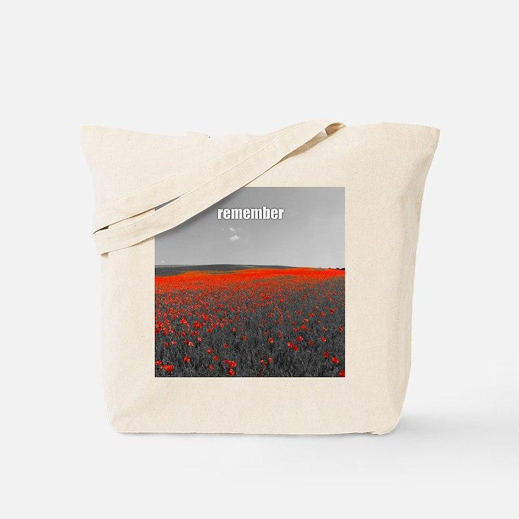 Poppy Field - Remember Tote Bag