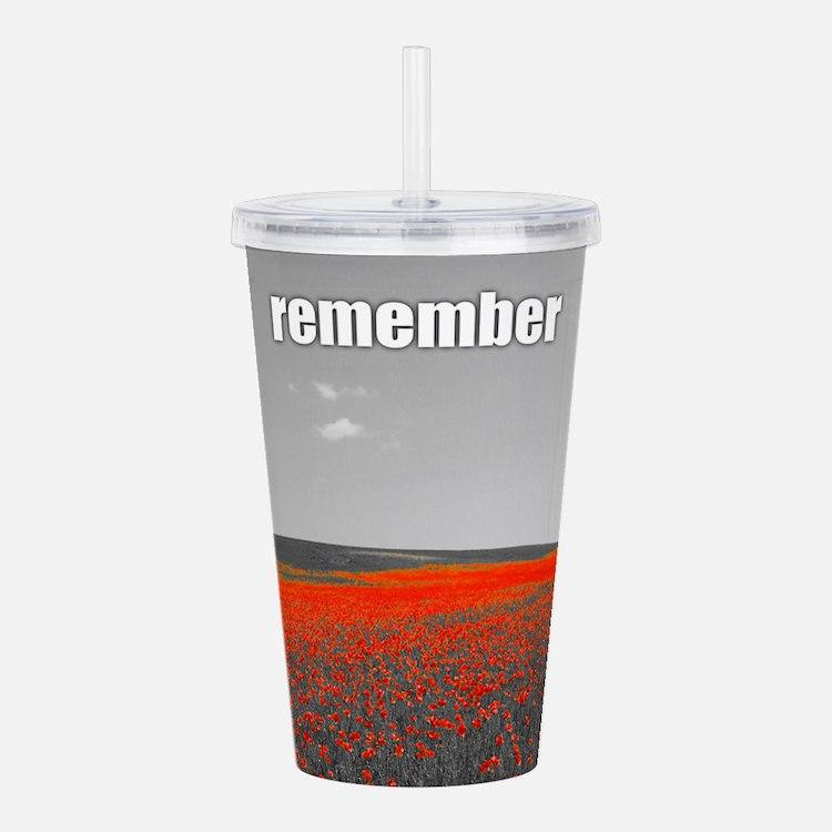 Poppy Field - Remember Acrylic Double-wall Tumbler