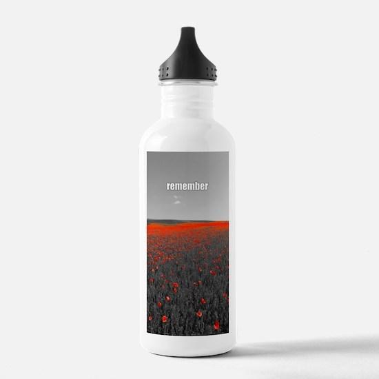 Poppy Field - Remember Sports Water Bottle