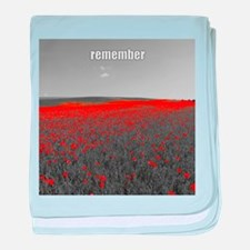 Poppy Field - Remember baby blanket