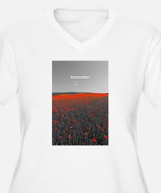 Poppy Field - Remember Plus Size T-Shirt