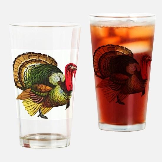 Thanksgiving Wild Turkey Drinking Glass