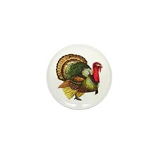 Funny Gobble gobble day Mini Button (10 pack)