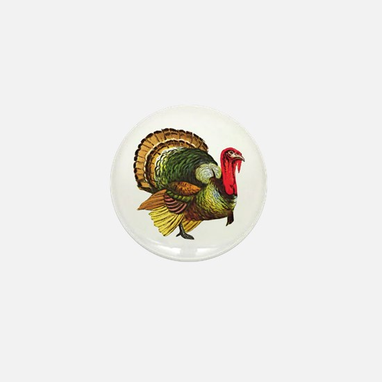 Thanksgiving Wild Turkey Mini Button (10 pack)