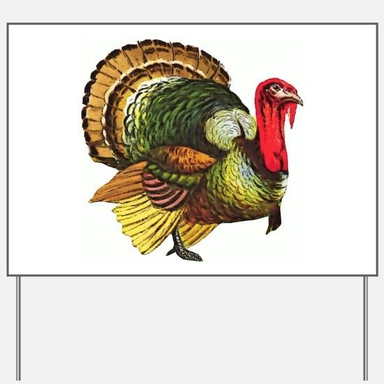 Thanksgiving Wild Turkey Yard Sign