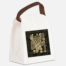 Aztec Eagle Warrior Canvas Lunch Bag