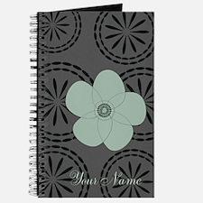 Cute Vintage Style Green Anemone Flower Journal.
