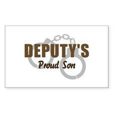Deputy's Proud Son Rectangle Decal