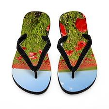 Poppy Field PRO PHOTO Flip Flops