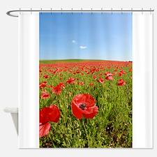 Poppy Field PRO PHOTO Shower Curtain