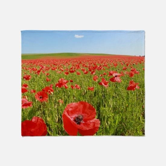 Poppy Field PRO PHOTO Throw Blanket