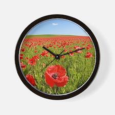 Poppy Field PRO PHOTO Wall Clock