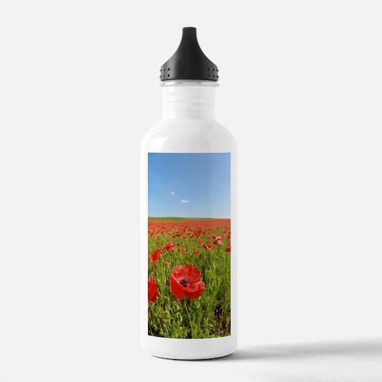 Poppy Field PRO PHOTO Sports Water Bottle