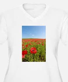 Poppy Field PRO PHOTO Plus Size T-Shirt