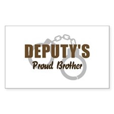 Deputy's Proud Brother Rectangle Decal