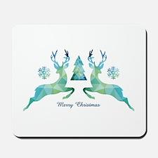 Geometric Christmas Deer Mousepad