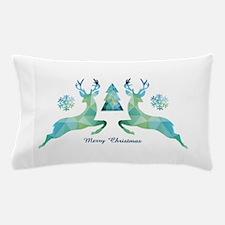Geometric Christmas Deer Pillow Case