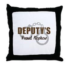 Deputy's Proud Nephew Throw Pillow