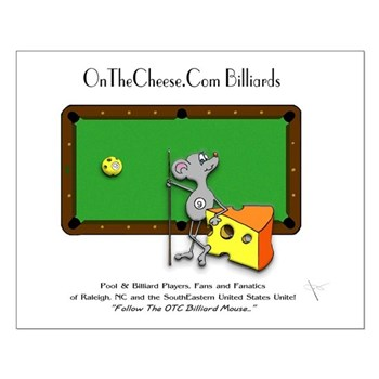 On The Cheese Billiard Mouse Small Poster