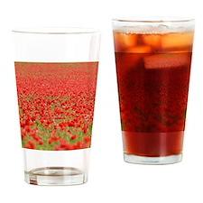 Poppy Field - Pro Photo Drinking Glass