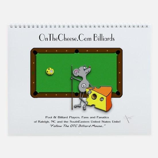 On The Cheese Billiard Mouse Wall Calendar