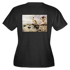 A Morning Di Women's Plus Size V-Neck Dark T-Shirt
