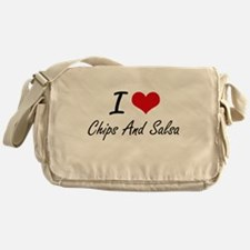 I love Chips And Salsa Messenger Bag