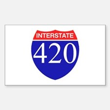 420 Rectangle Decal