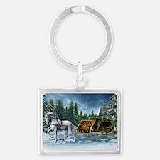 Christmas Sleigh Landscape Keychain