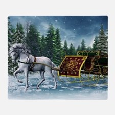 Christmas Sleigh Throw Blanket