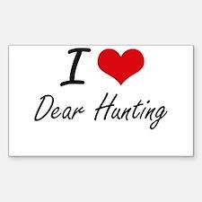 I love Dear Hunting Decal