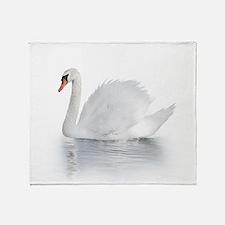 White Swan Throw Blanket