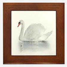 White Swan Framed Tile