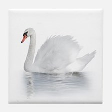 White Swan Tile Coaster