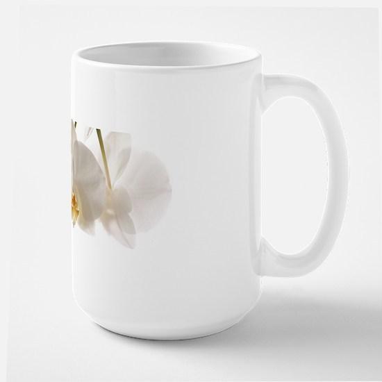 White Orchids Large Mug